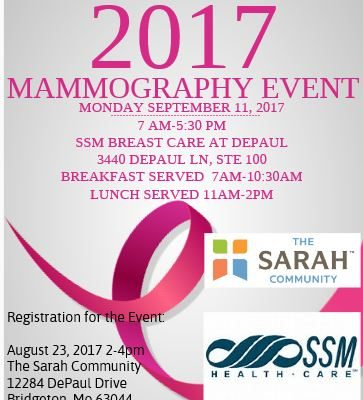 2017 Mammography Event on Sept. 11