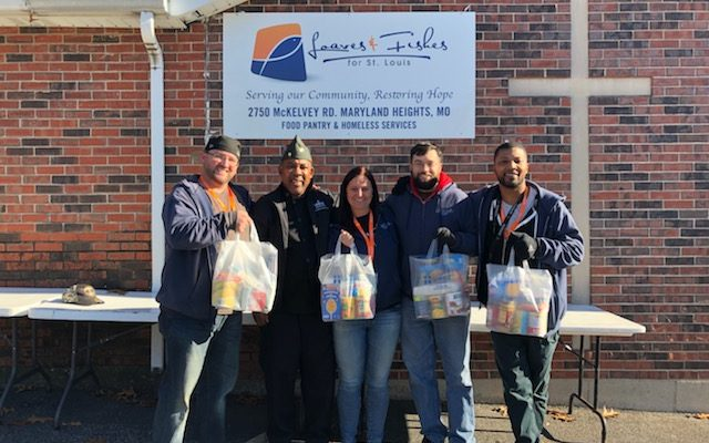 Amvets Donate Food to Loaves and Fishes